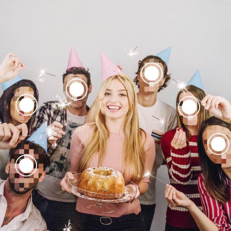 サンプル画像 :友人との誕生日スナップ(加工後)