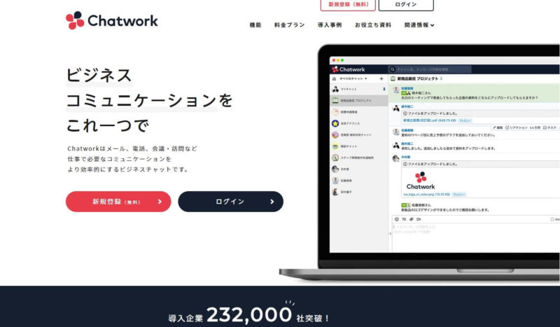 ChatworkTOP画面