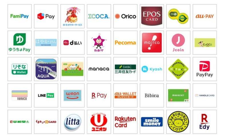 登録キャッシュレス決済サービス1(2020年6月5日現在)