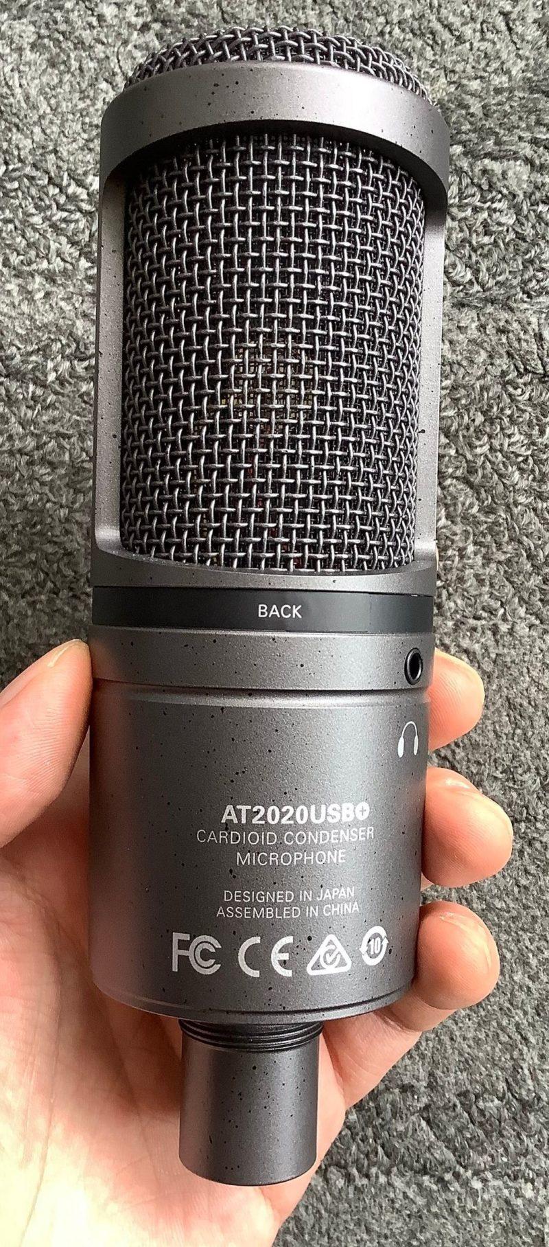 audio-technica AT2020USB+のマイク背面写真
