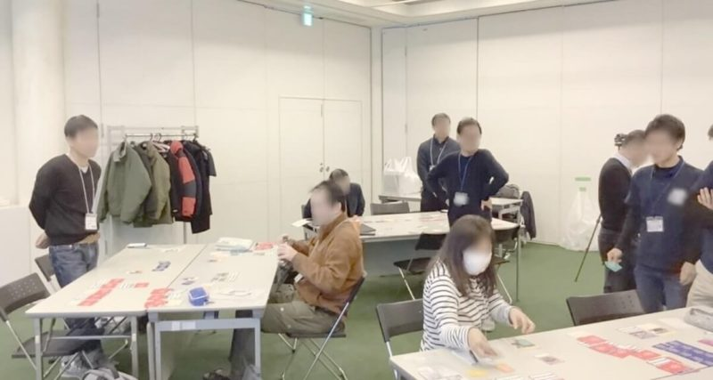 2030SDGs開催事例②プログラミングスクール-カードゲーム実施中写真
