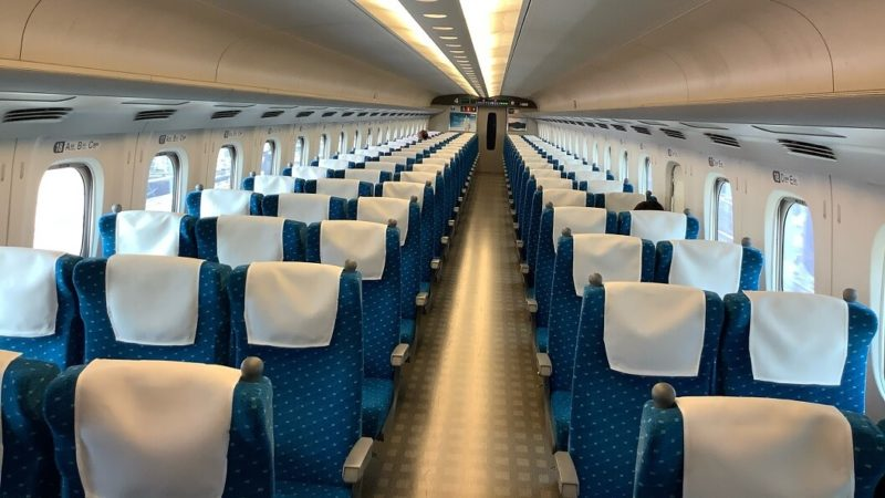 2020年4月17日 新幹線の社内写真