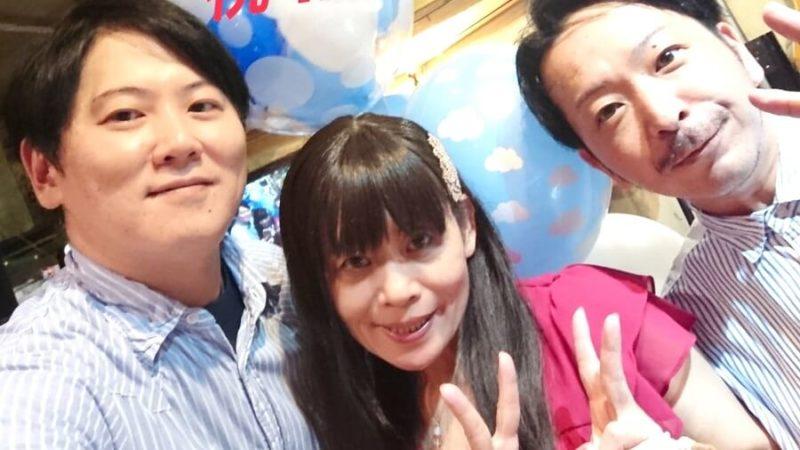 沖縄を中心に活動しているアーティスト「そら」のお二人/左「宇和川直幸」さんと右 「桃原淳也」さん