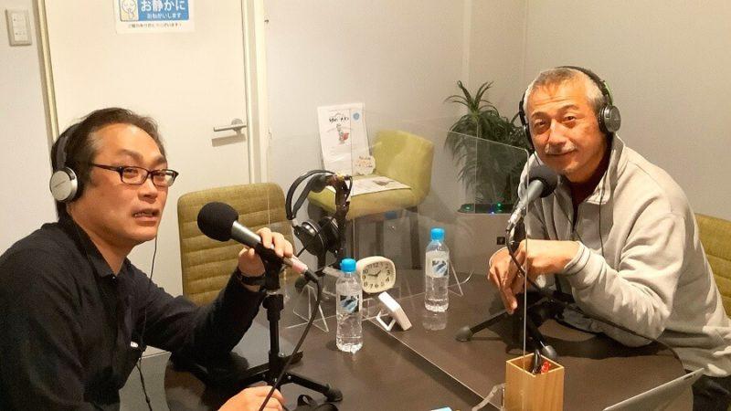 収録後の様子 右「OKなお」さん、左コバタケ 収録当日は、久しぶりの大阪スタジオでした!