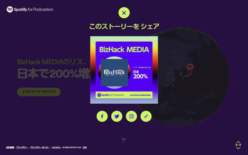 Spotify 2020 BizHack MEDIA p2-3 1つ目のシエア画面