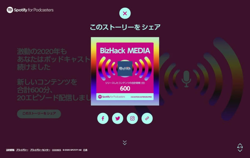 Spotify 2020 BizHack MEDIA p4-1 2つ目のシエア画面