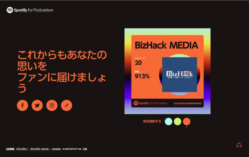 Spotify 2020 BizHack MEDIA p5-1 3つ目のシエア画面