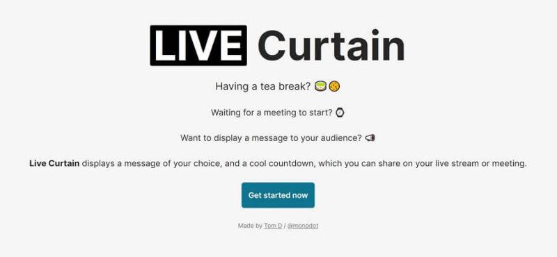 Live Curtain 公式ホームページより