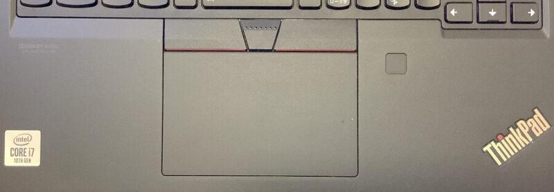 Thinkpad X13のクリックパッドと指紋センサー