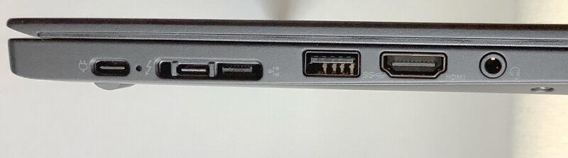 Thinkpad X13の左側面の接続端子類