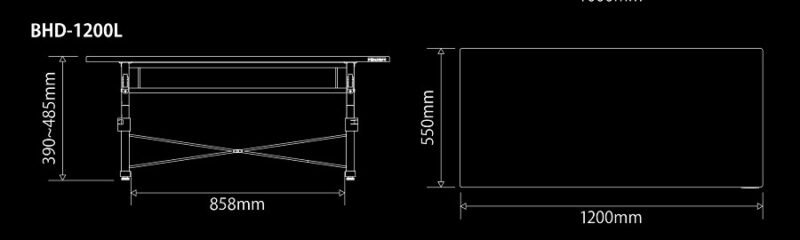 机のサイズ(Bauhutte公式ホームページより)