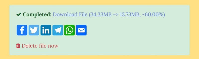 MP3Smallerの変換完了後UI